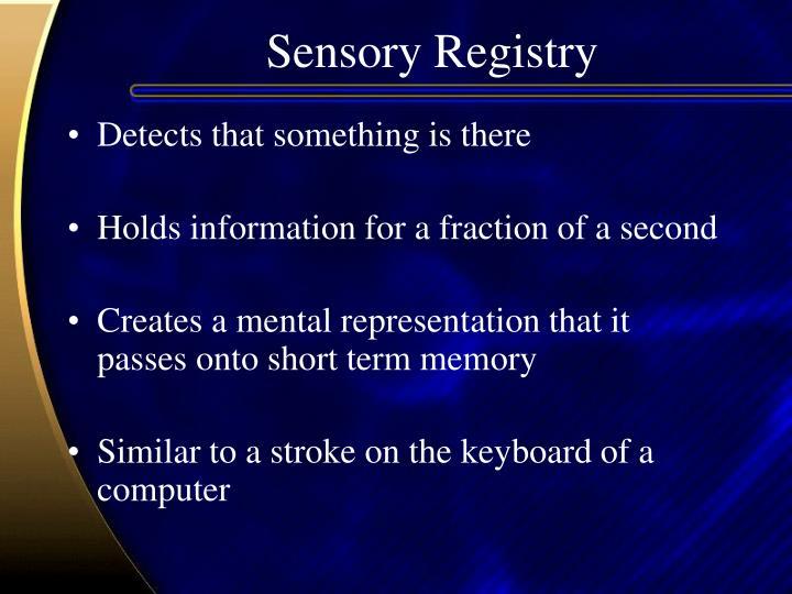 Sensory Registry