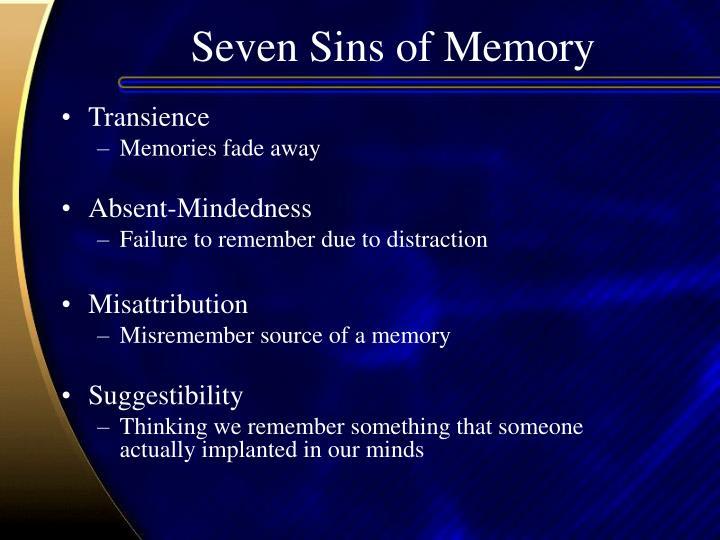 Seven Sins of Memory