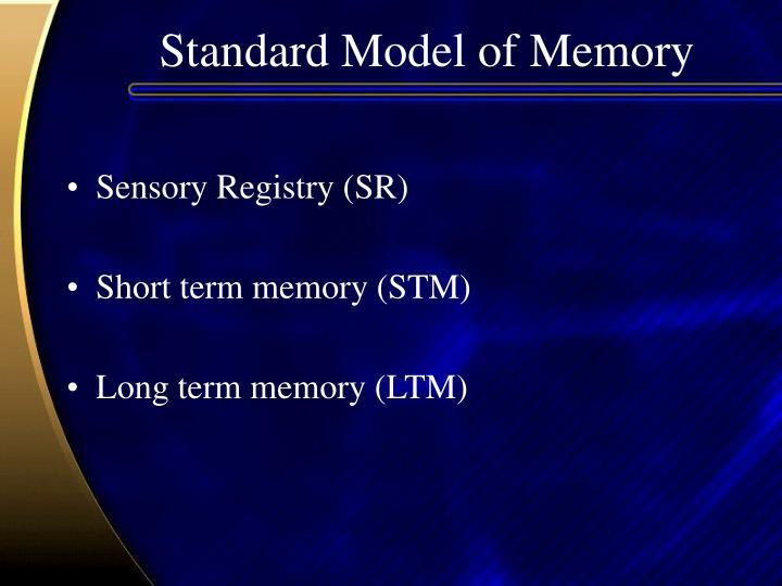 Standard Model of Memory