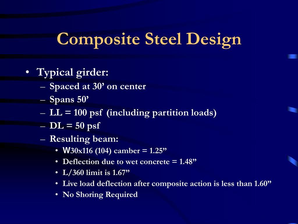 Composite Steel Design