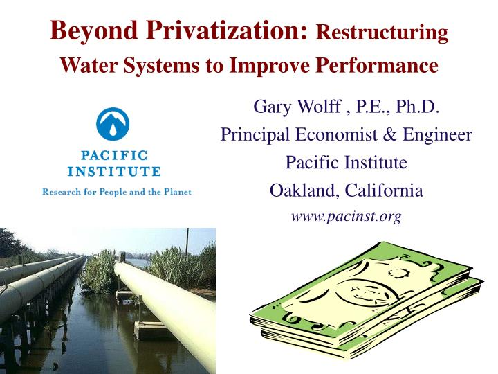 Beyond privatization restructuring water systems to improve performance