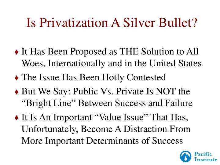Is privatization a silver bullet