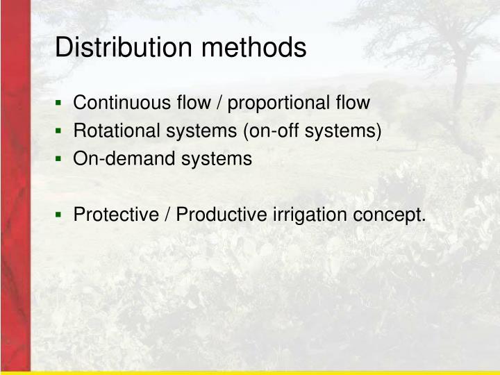 Distribution methods