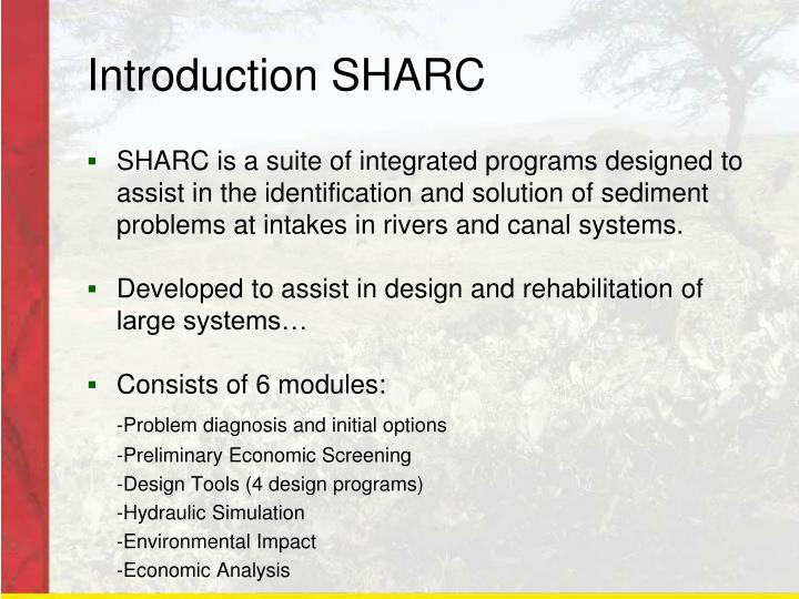 Introduction SHARC