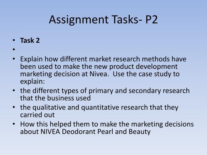 Assignment Tasks- P2