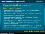 phases of the moon continued