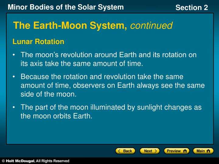 The Earth-Moon System,