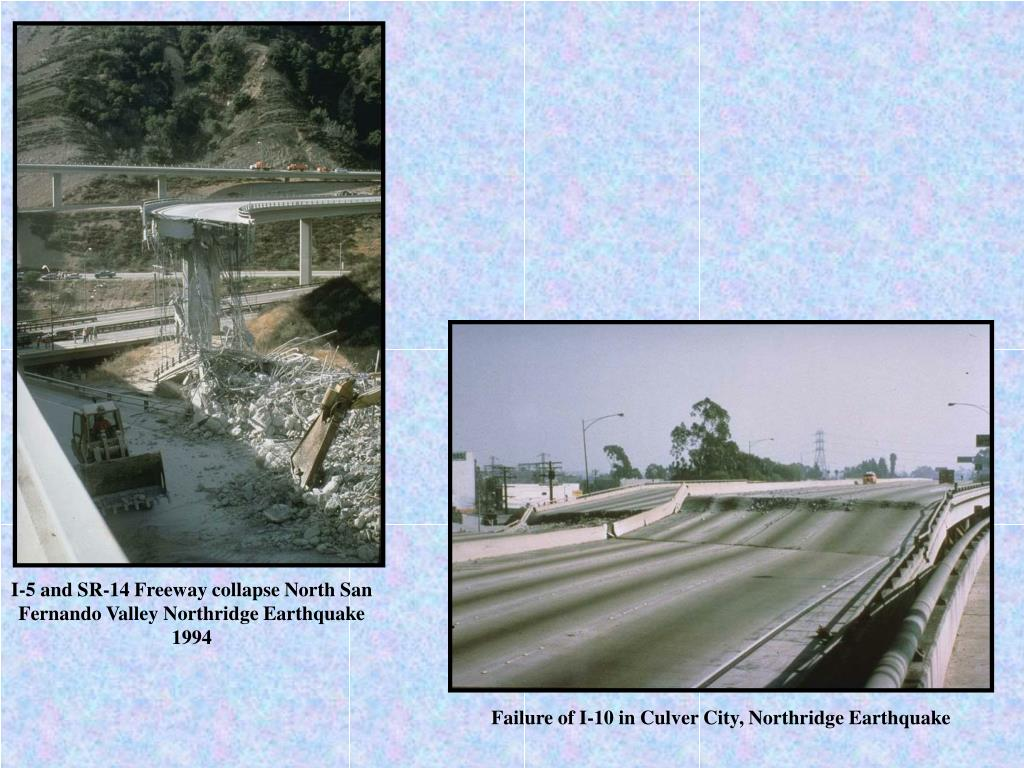 I-5 and SR-14 Freeway collapse North San Fernando Valley Northridge Earthquake 1994