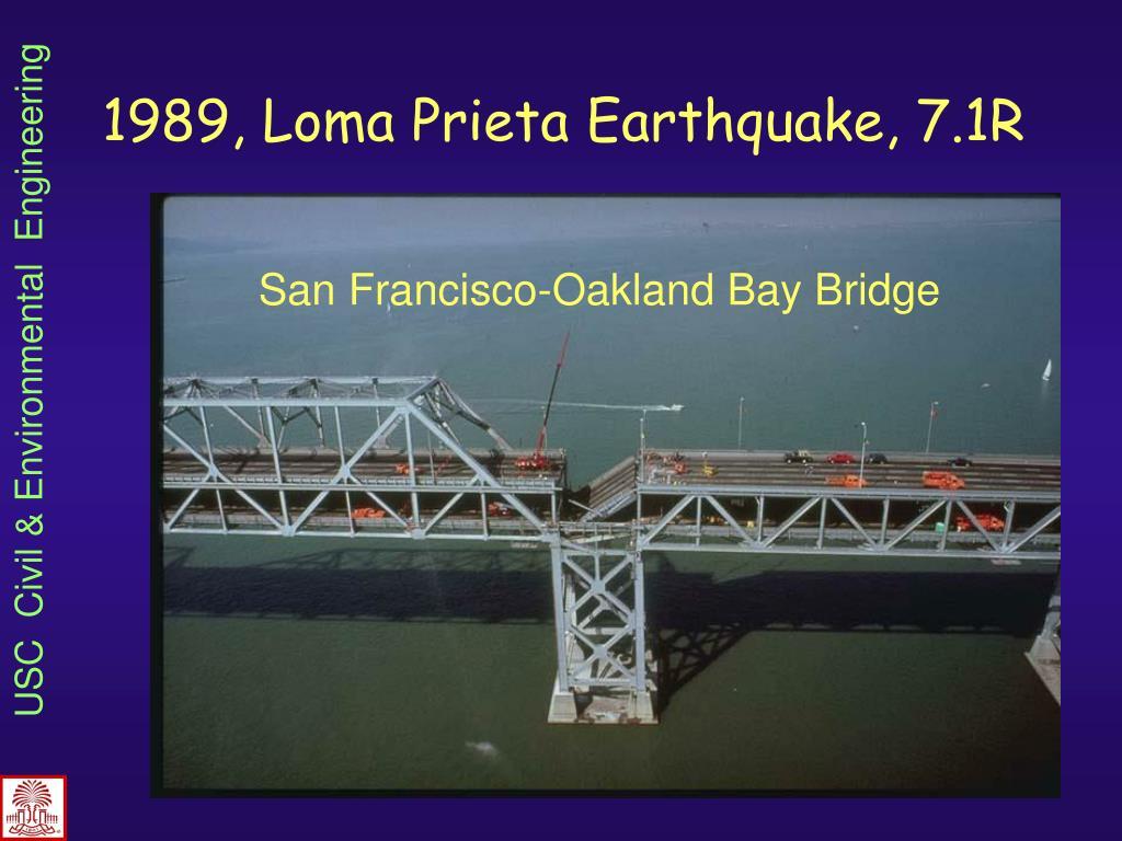 1989, Loma Prieta Earthquake, 7.1R