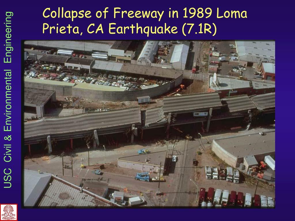 Collapse of Freeway in 1989 Loma Prieta, CA Earthquake (7.1R)