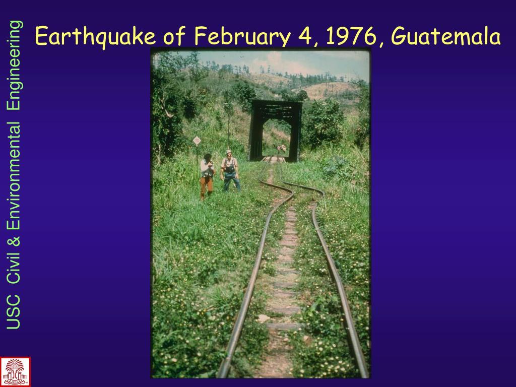 Earthquake of February 4, 1976, Guatemala