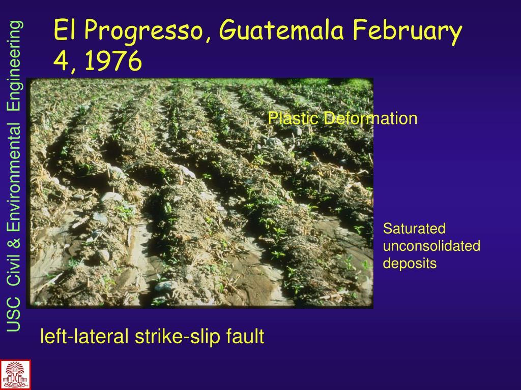 El Progresso, Guatemala February 4, 1976