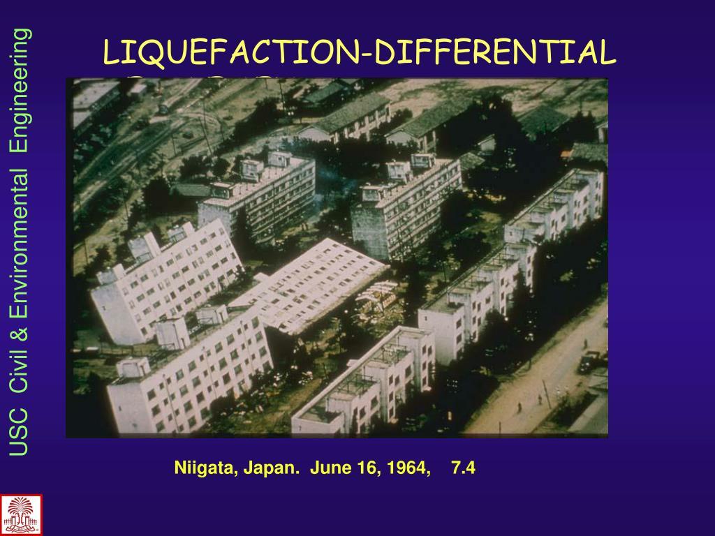 LIQUEFACTION-DIFFERENTIAL SETTLEMENTS