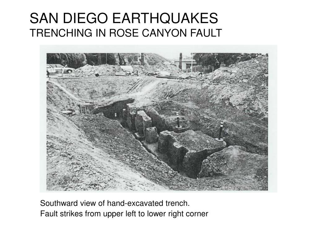 SAN DIEGO EARTHQUAKES