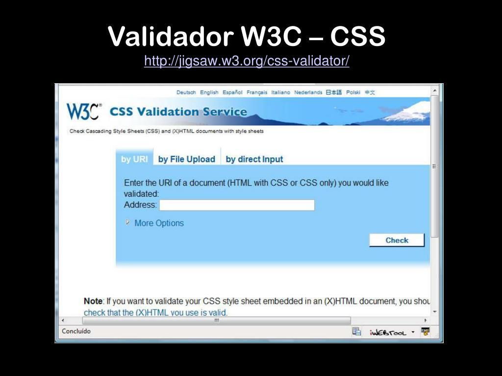 Validador W3C – CSS