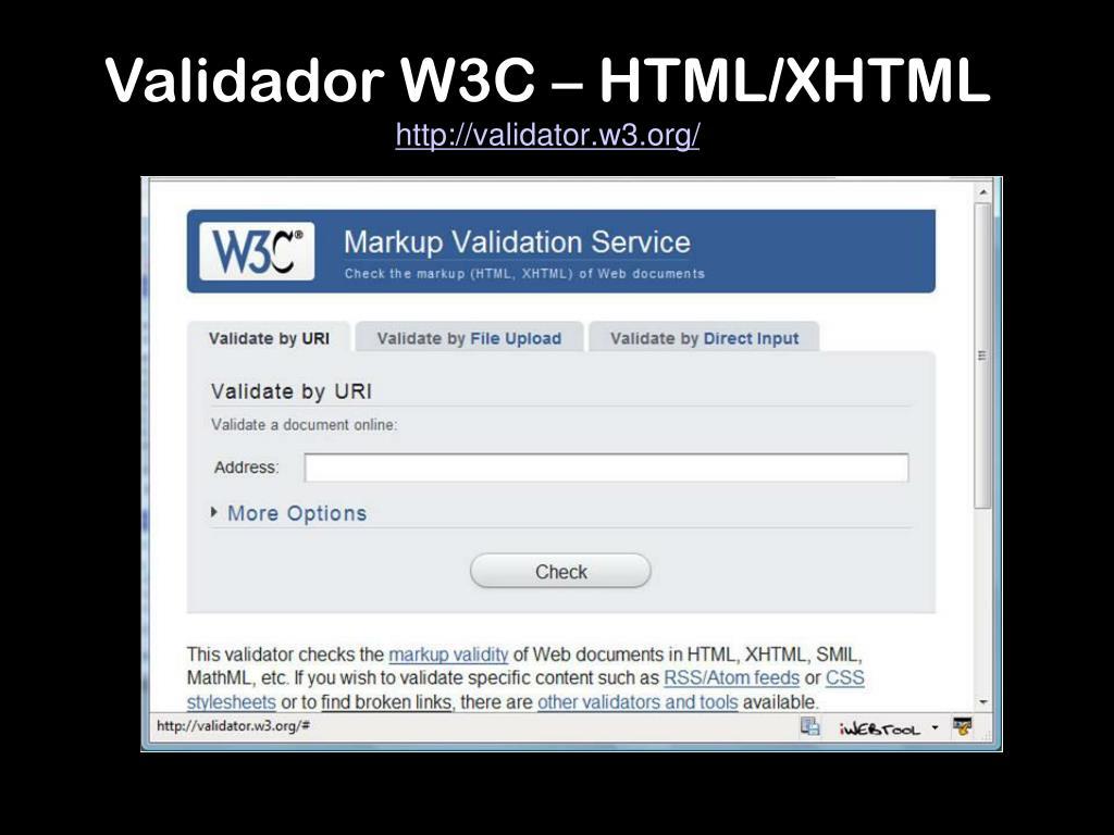 Validador W3C – HTML/XHTML
