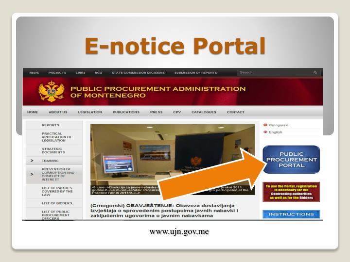 E-notice Portal