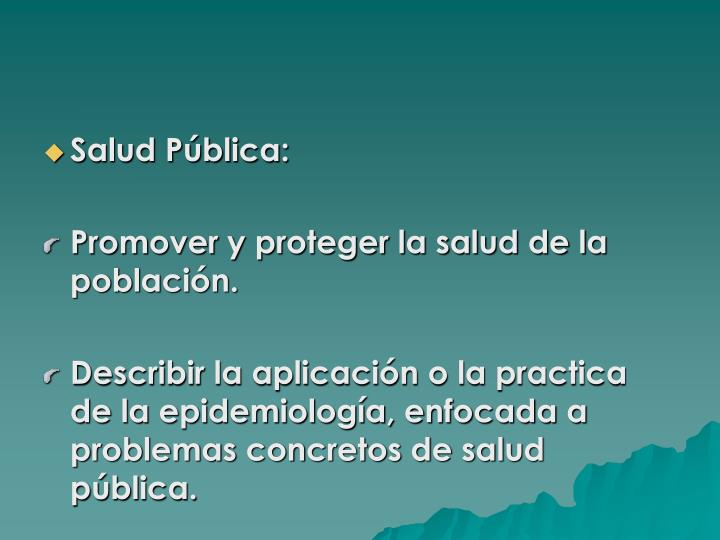 Salud Pública: