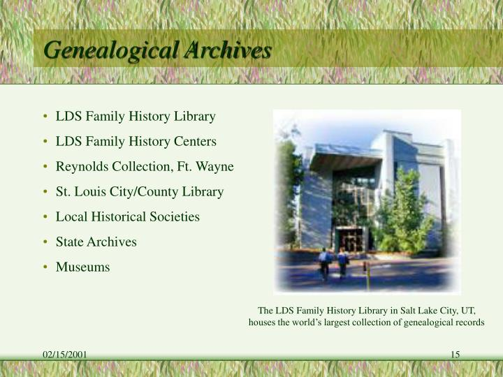 Genealogical Archives