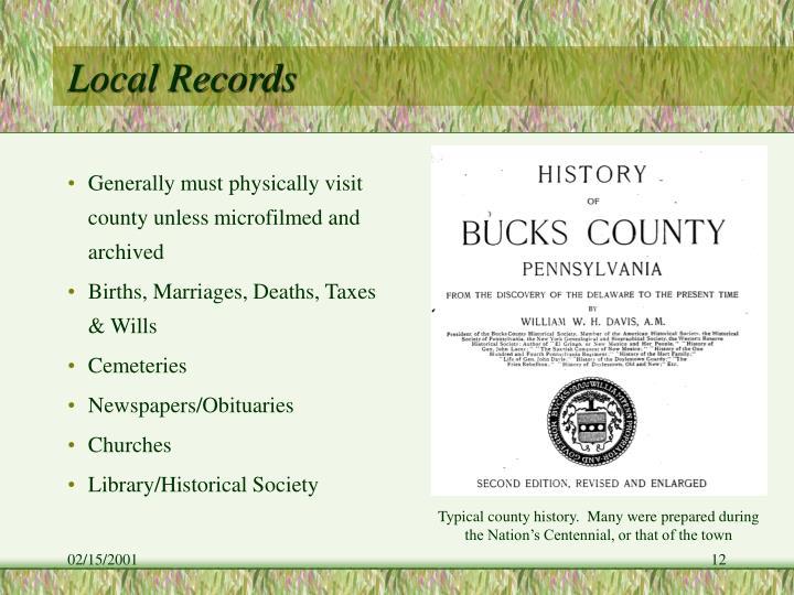 Local Records