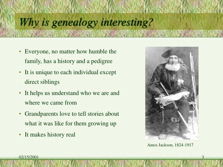 Why is genealogy interesting?