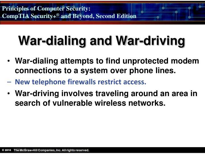 War-dialing and War-driving