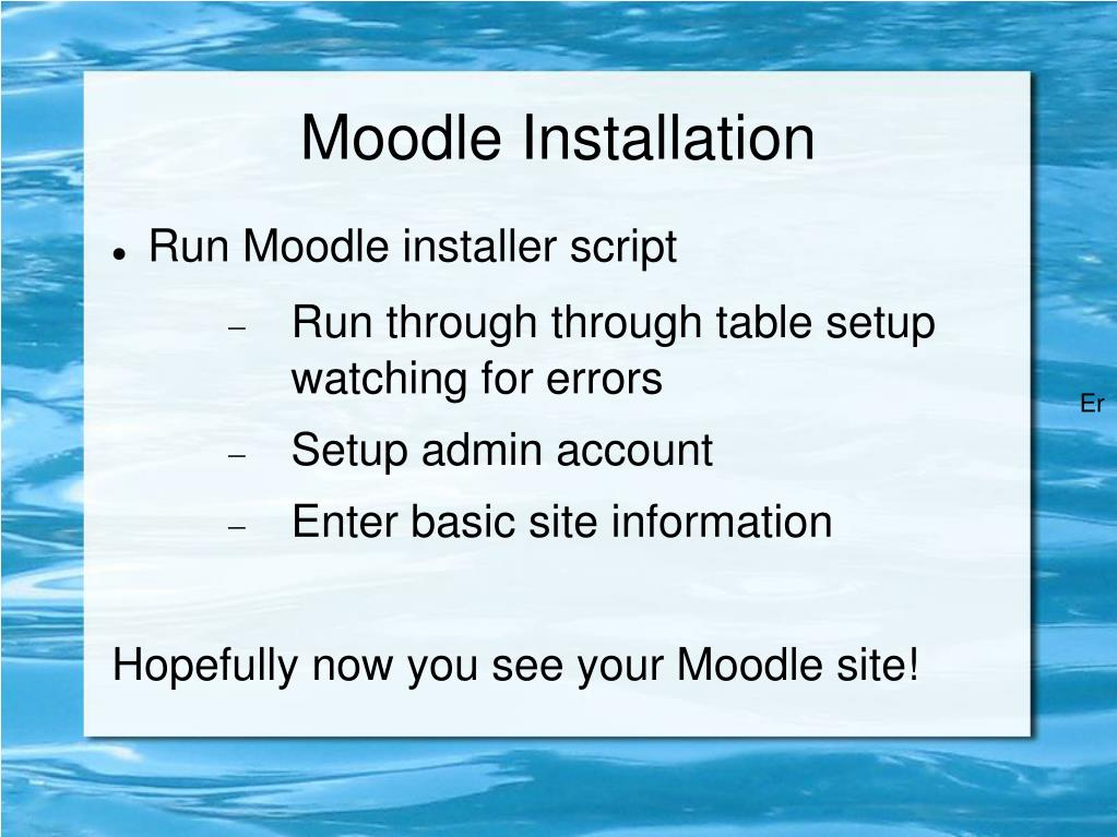 Moodle Installation