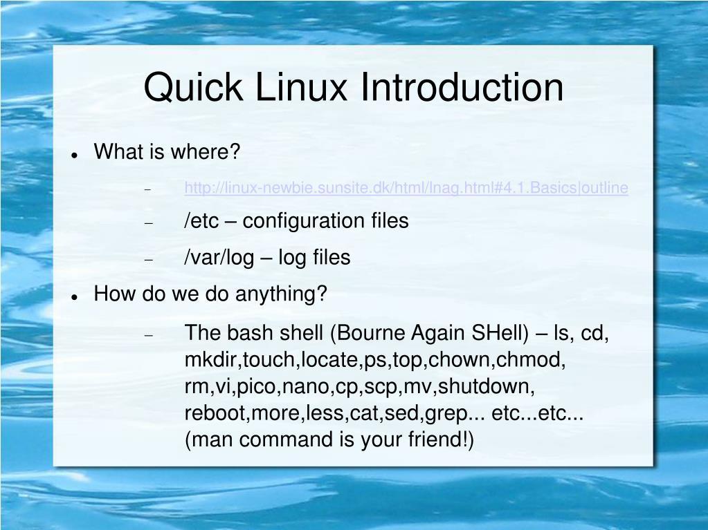 Quick Linux Introduction