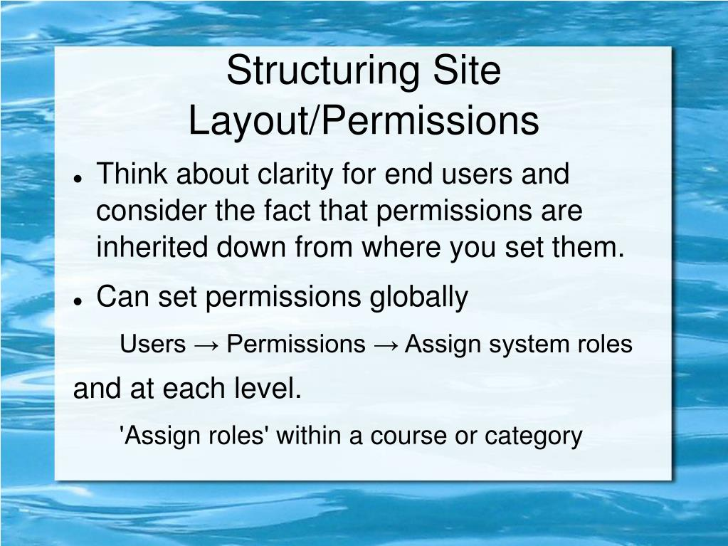 Structuring Site Layout/Permissions