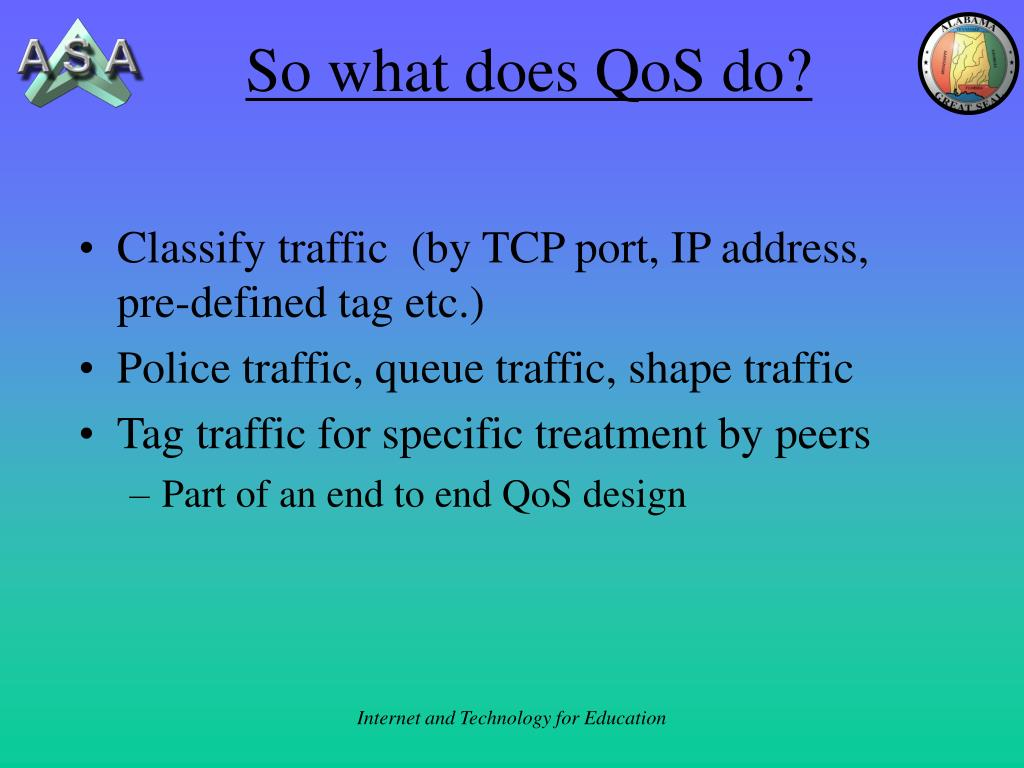 So what does QoS do?
