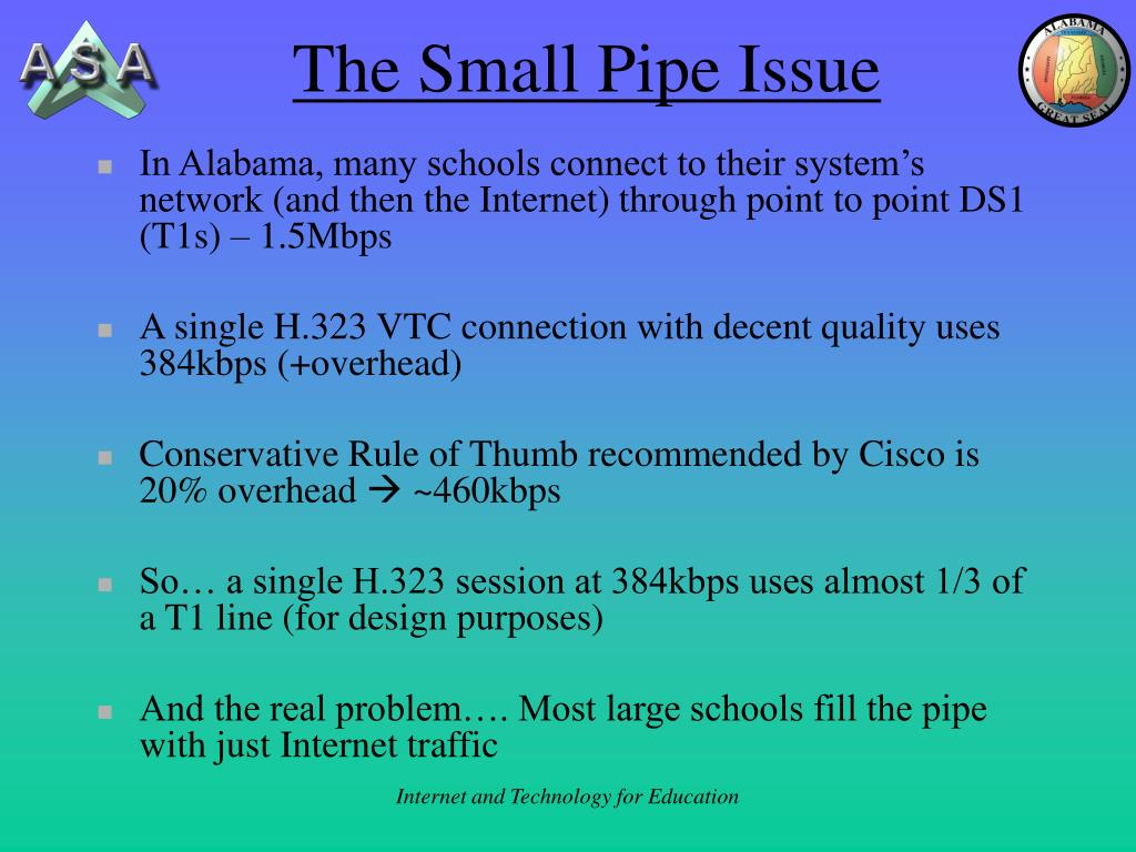 The Small Pipe Issue