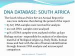 dna database south africa
