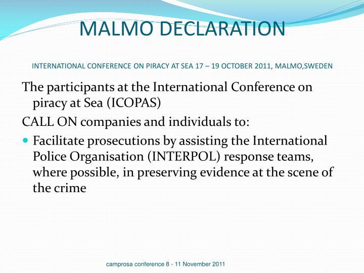 MALMO DECLARATION