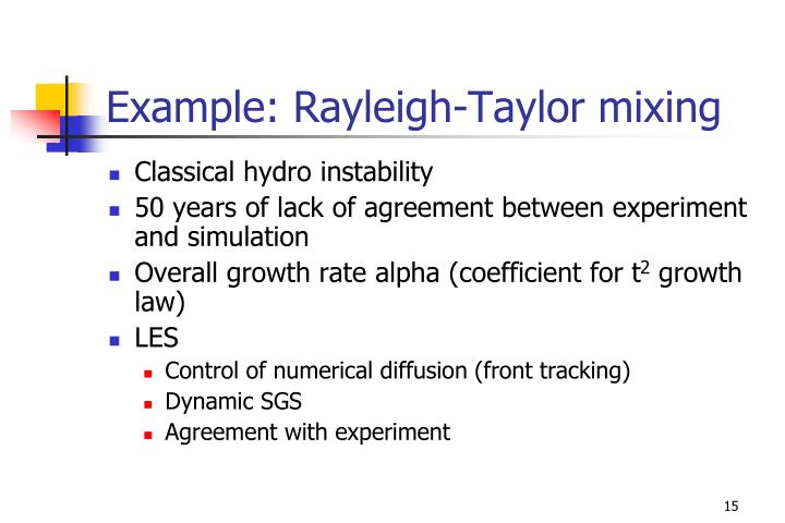 Example: Rayleigh-Taylor mixing
