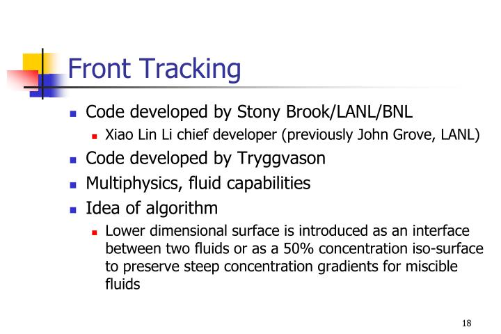 Front Tracking