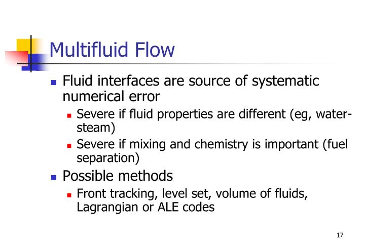 Multifluid Flow