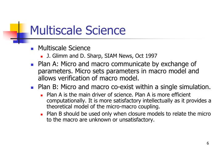 Multiscale Science
