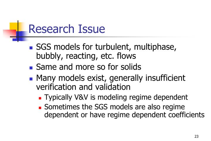 Research Issue