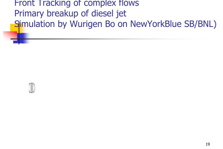 Front Tracking of complex flows