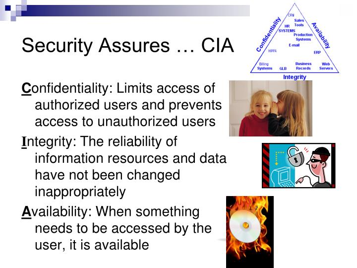Security Assures … CIA
