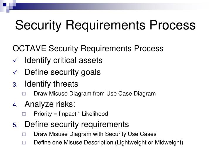 Security Requirements Process