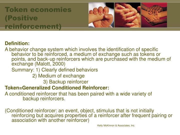 Token economies (Positive reinforcement)