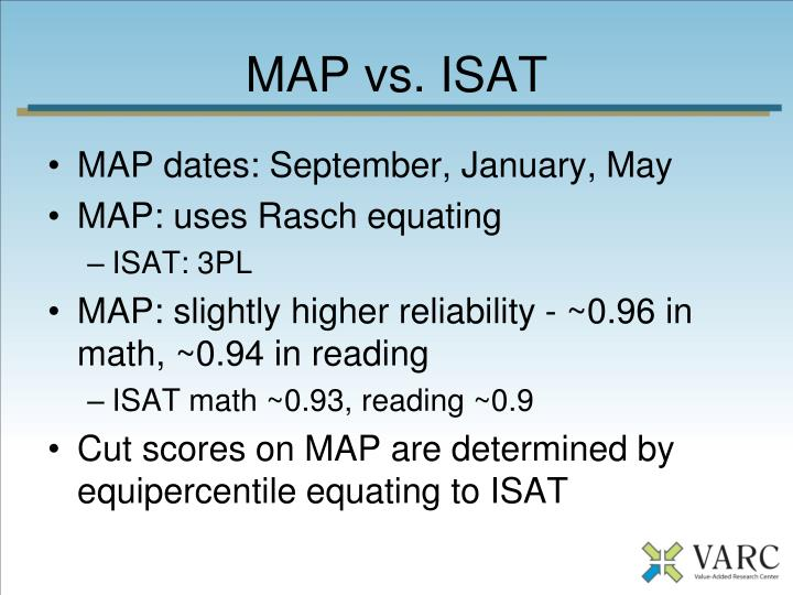 MAP vs. ISAT