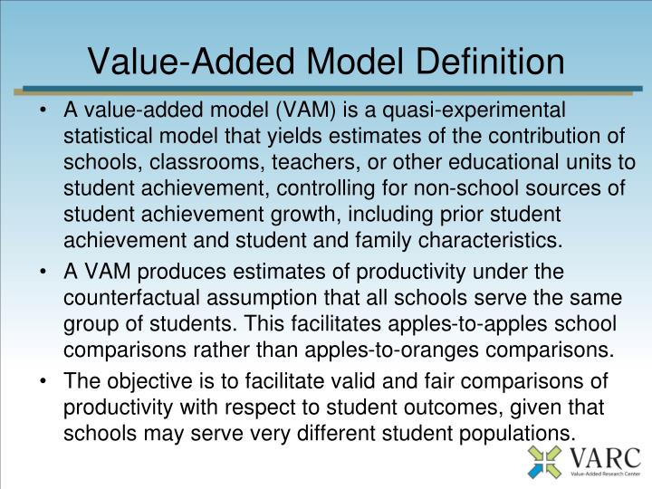 Value-Added Model Definition