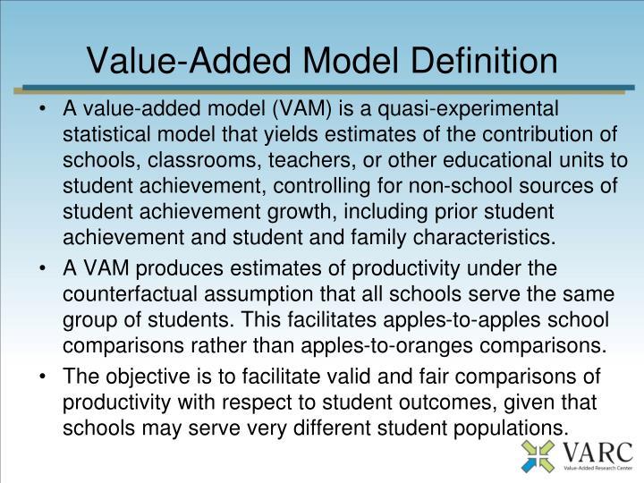 Value-Added Model Definition