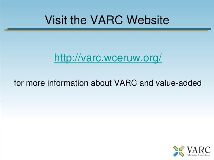 Visit the VARC Website