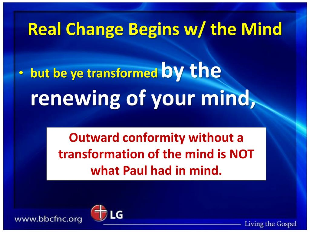 Real Change Begins w/ the Mind