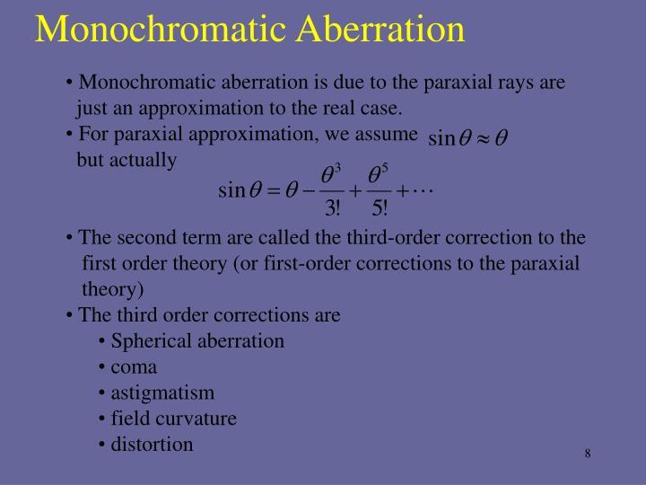 Monochromatic Aberration