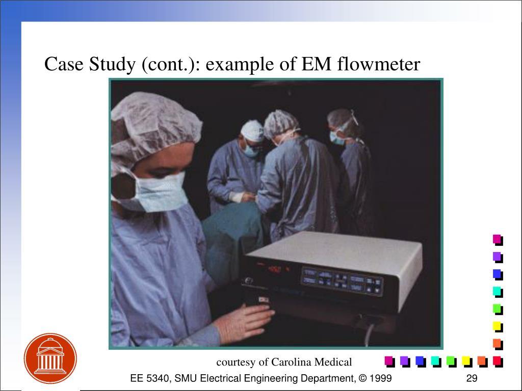 Case Study (cont.): example of EM flowmeter