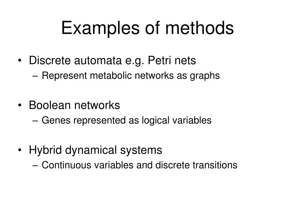 Examples of methods